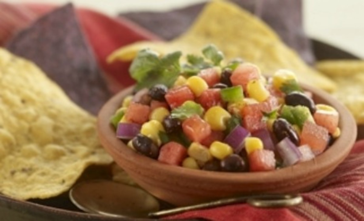 Watermelon, Black Bean and Corn Salsa