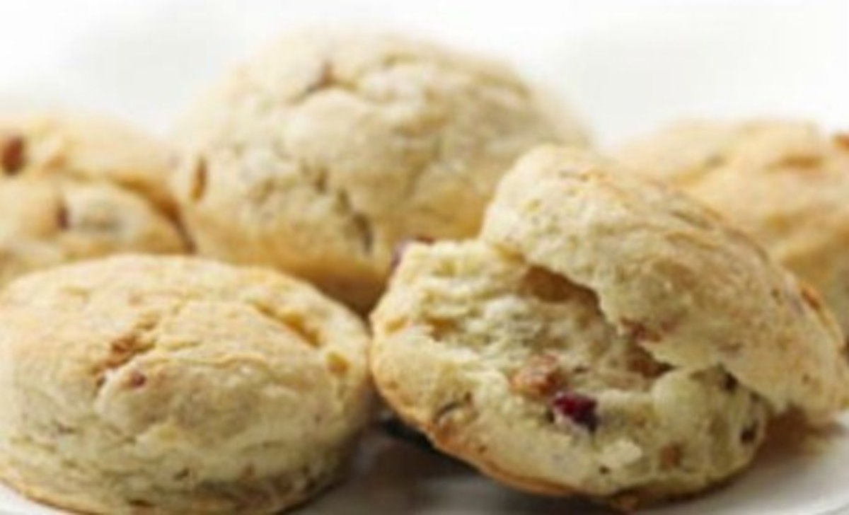Savory Cranberry-Walnut Biscuits