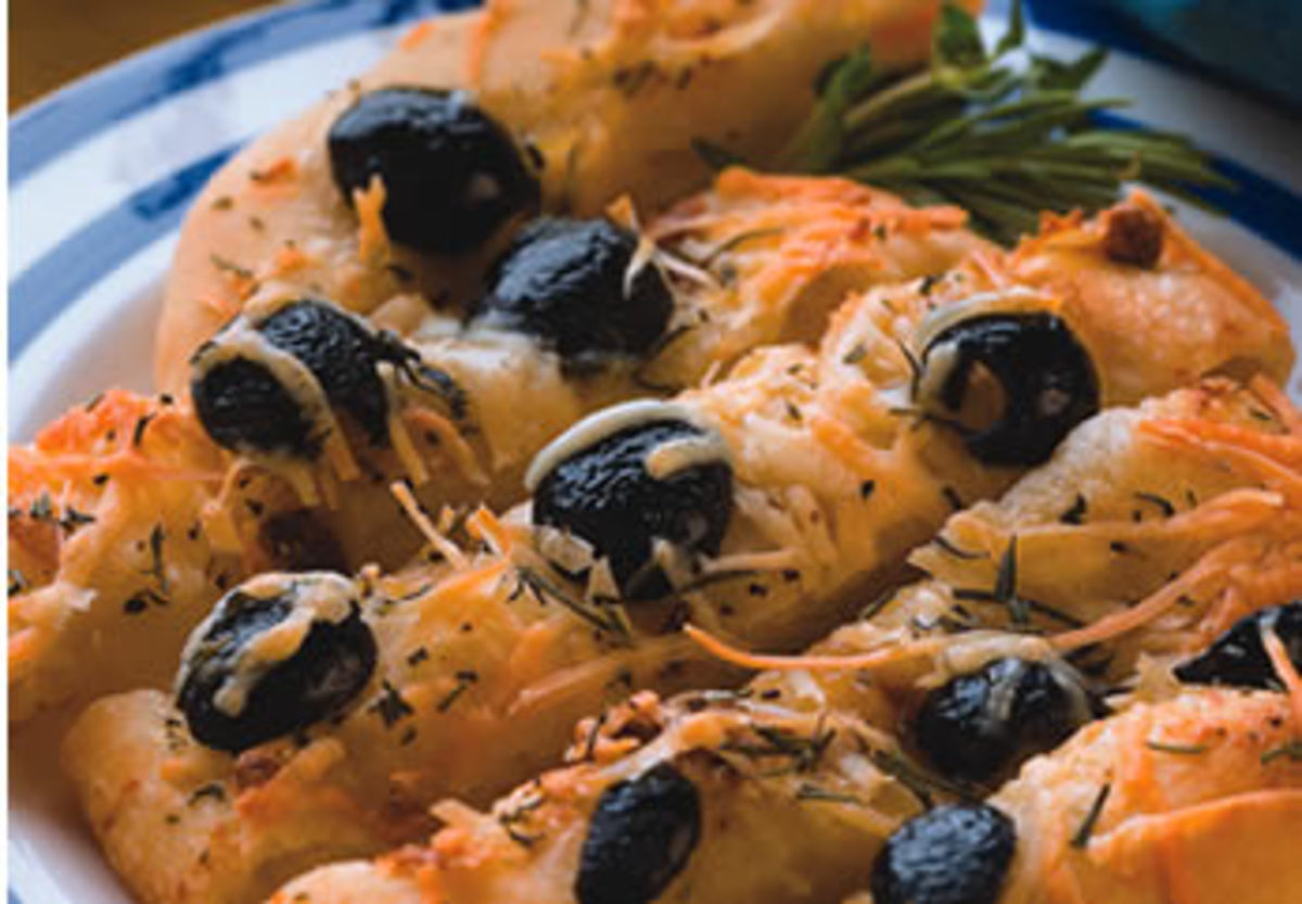 Garlic and Olive Focaccini–Diabetic Version