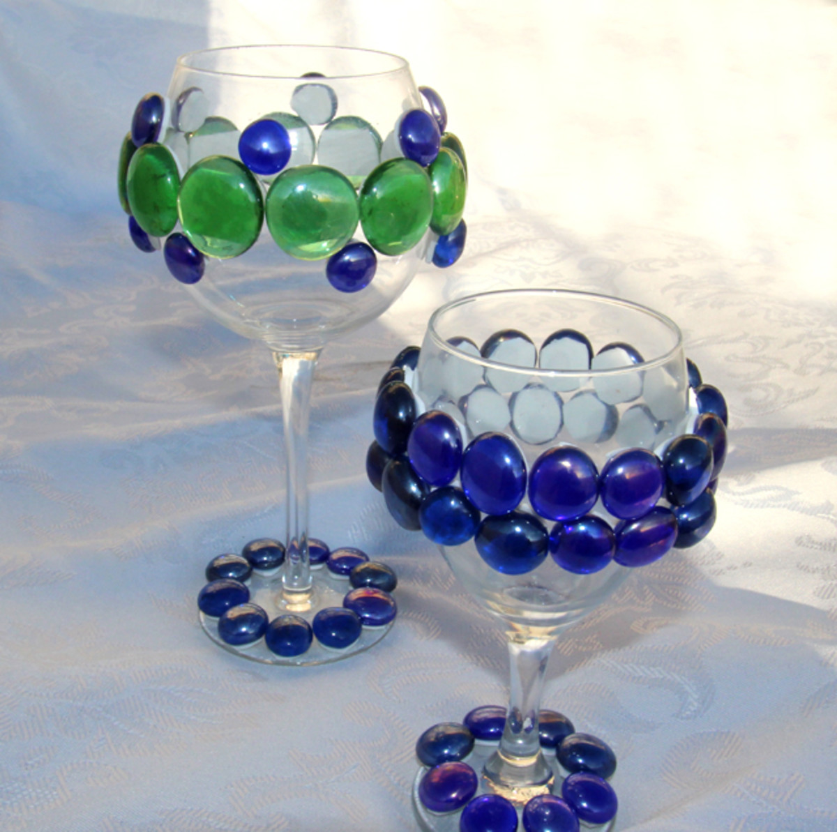 jeweled wine glass