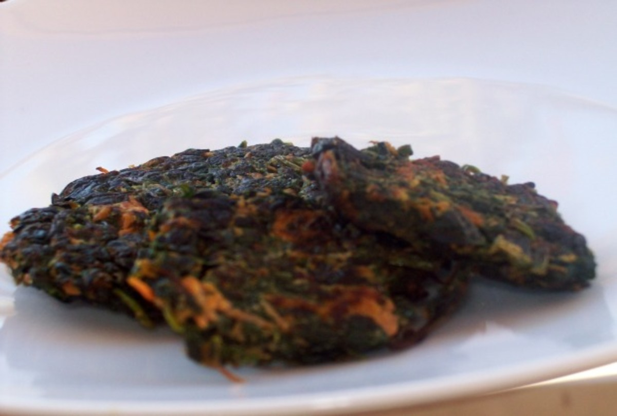 Spinach and Sweet Potato Pancakes (Super Latkes)