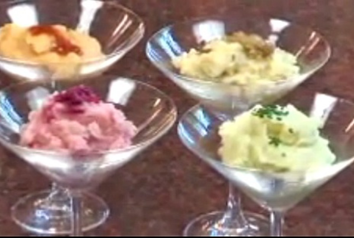 Multicolored Martini Mashed Potatoes
