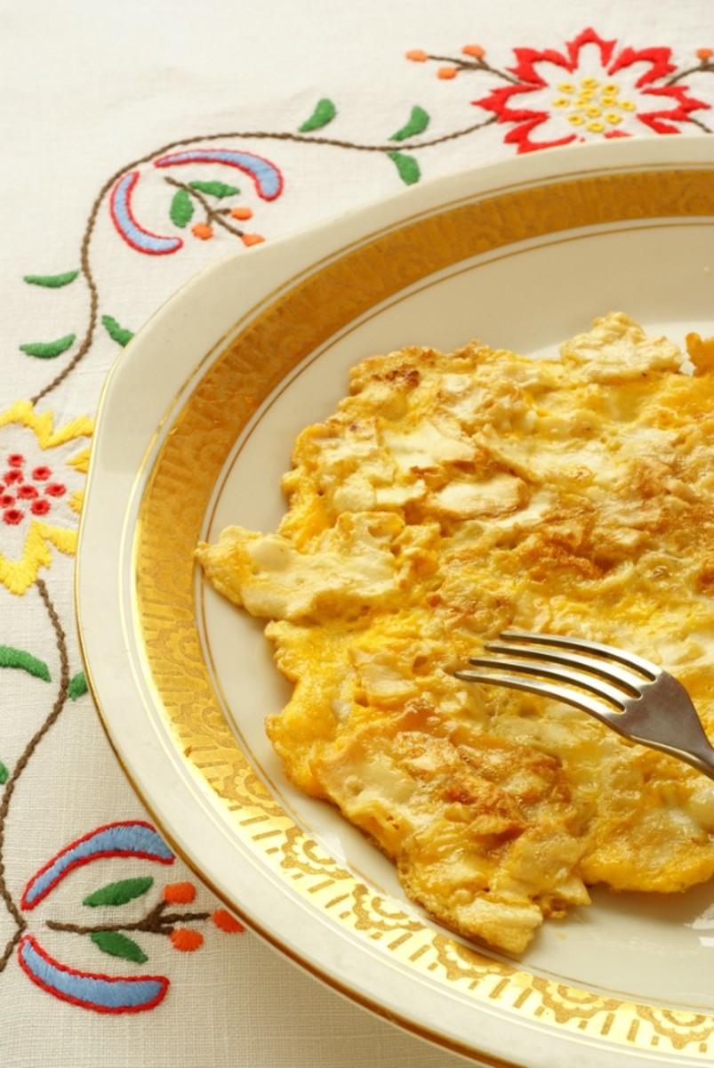 matzo brei mac 'n cheese