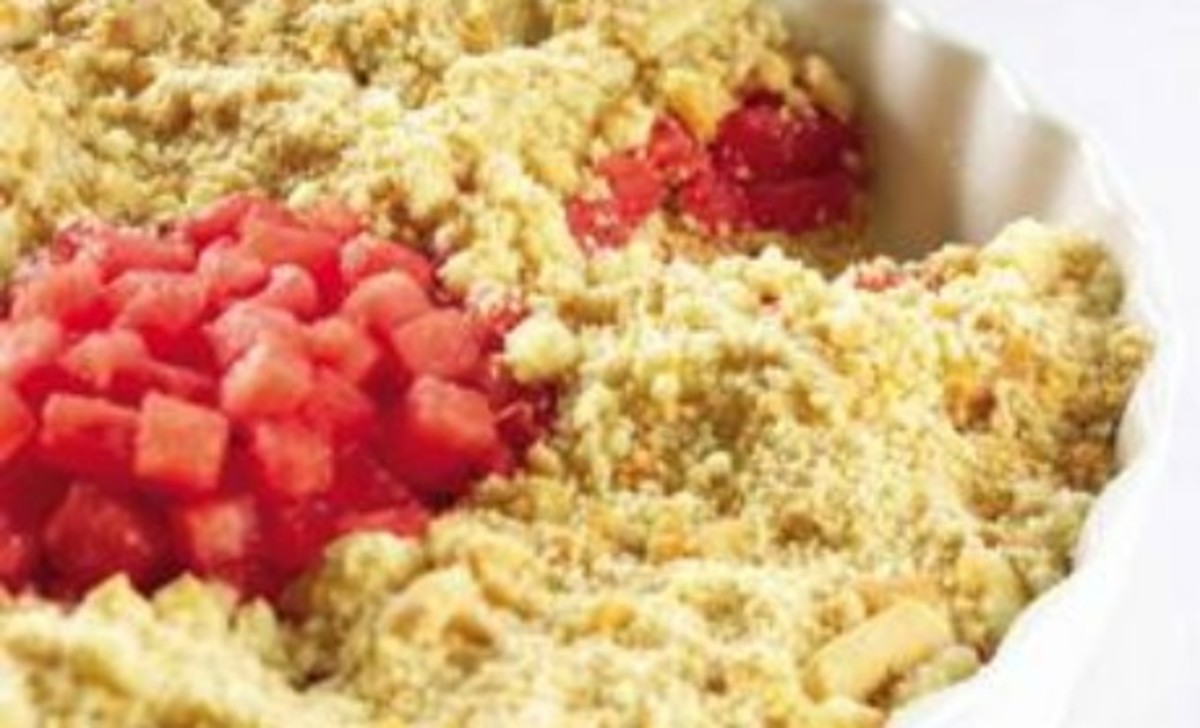Quick Watermelon Shortbread Cookie Crumble