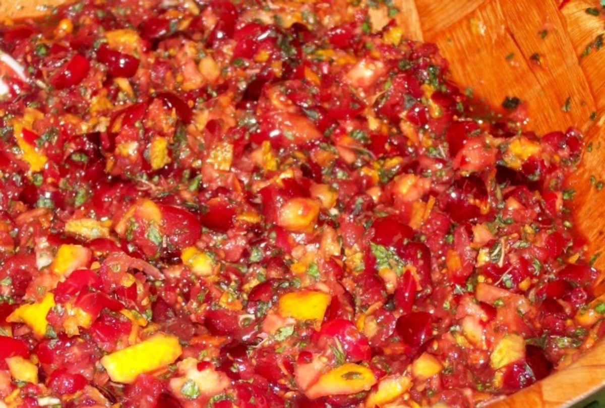 Minted Cranberry Orange Relish Recipe