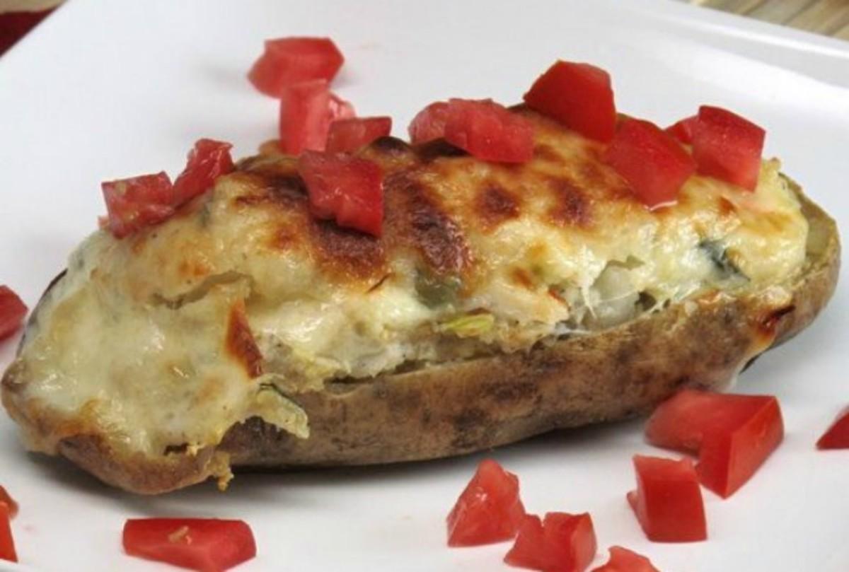 Quinoa Stuffed Potatoes with Artichokes and Basil
