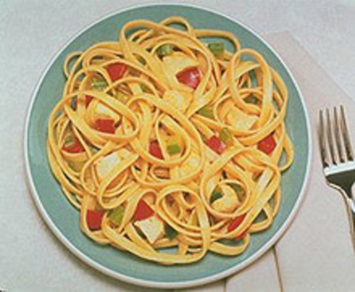 Spicy Chicken Fettuccine