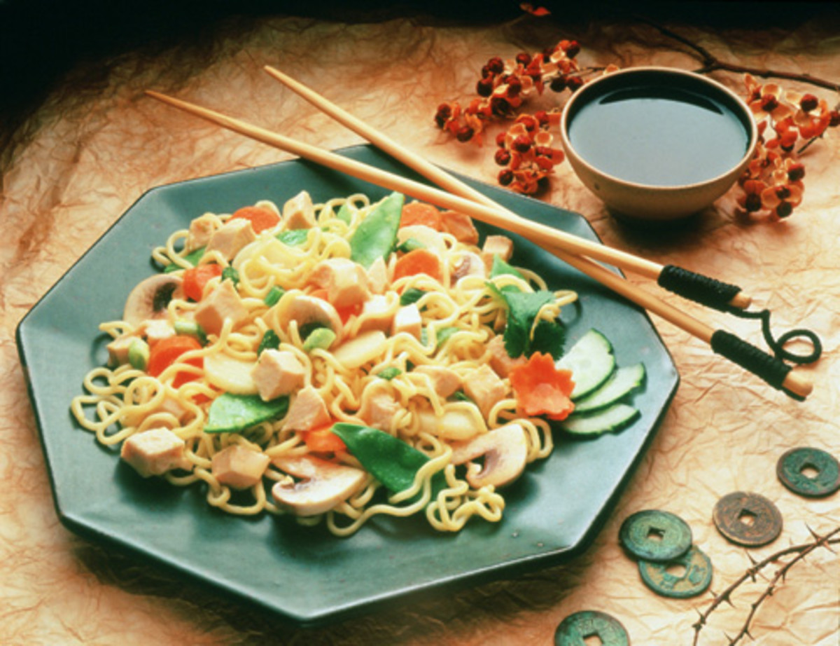 Oriental Turkey Noodle Salad