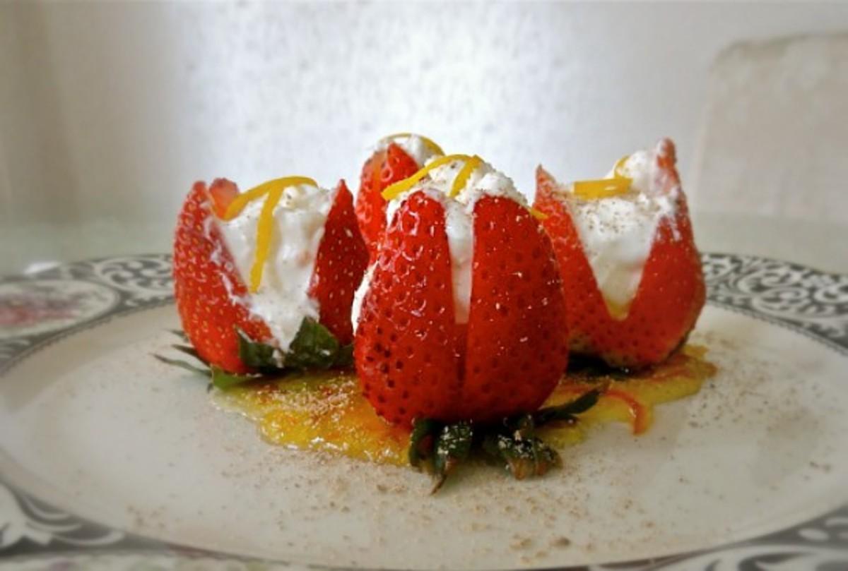 Cream Cheese Strawberries Romanoff