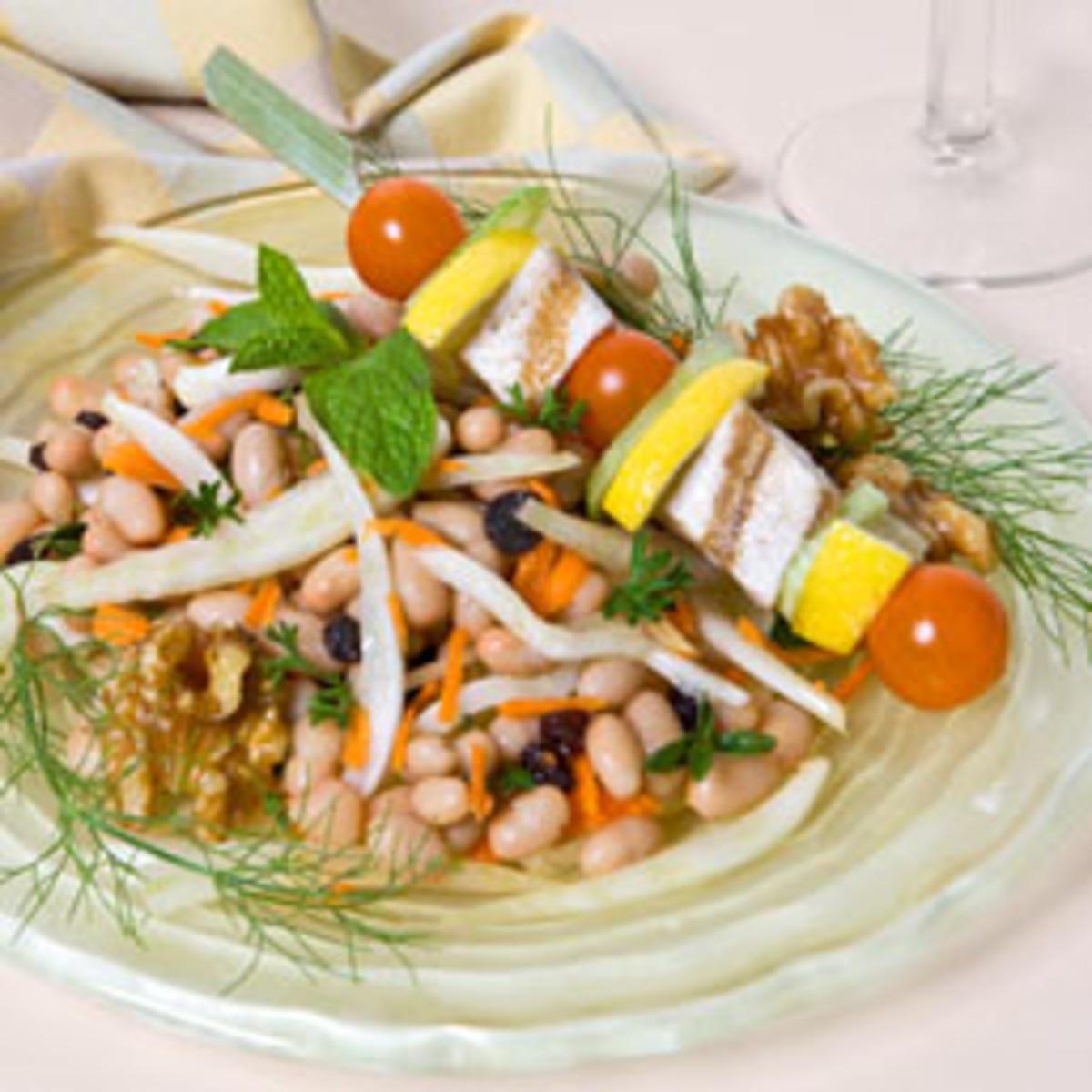 Fennel, White Bean and Walnut Salad