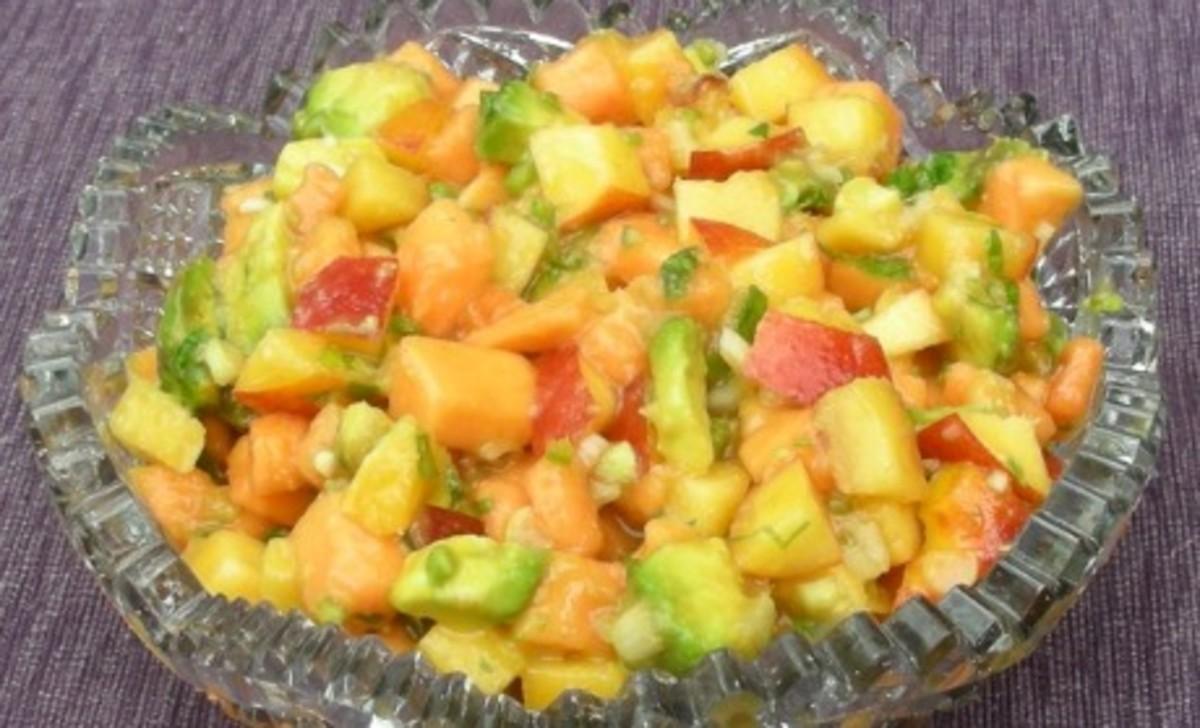 papaya and peach salsa