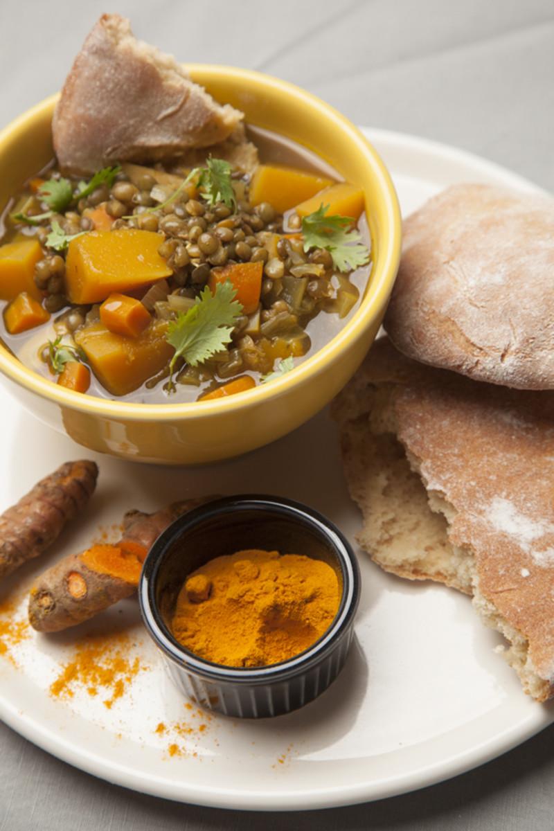 Lentil Soup With Pita