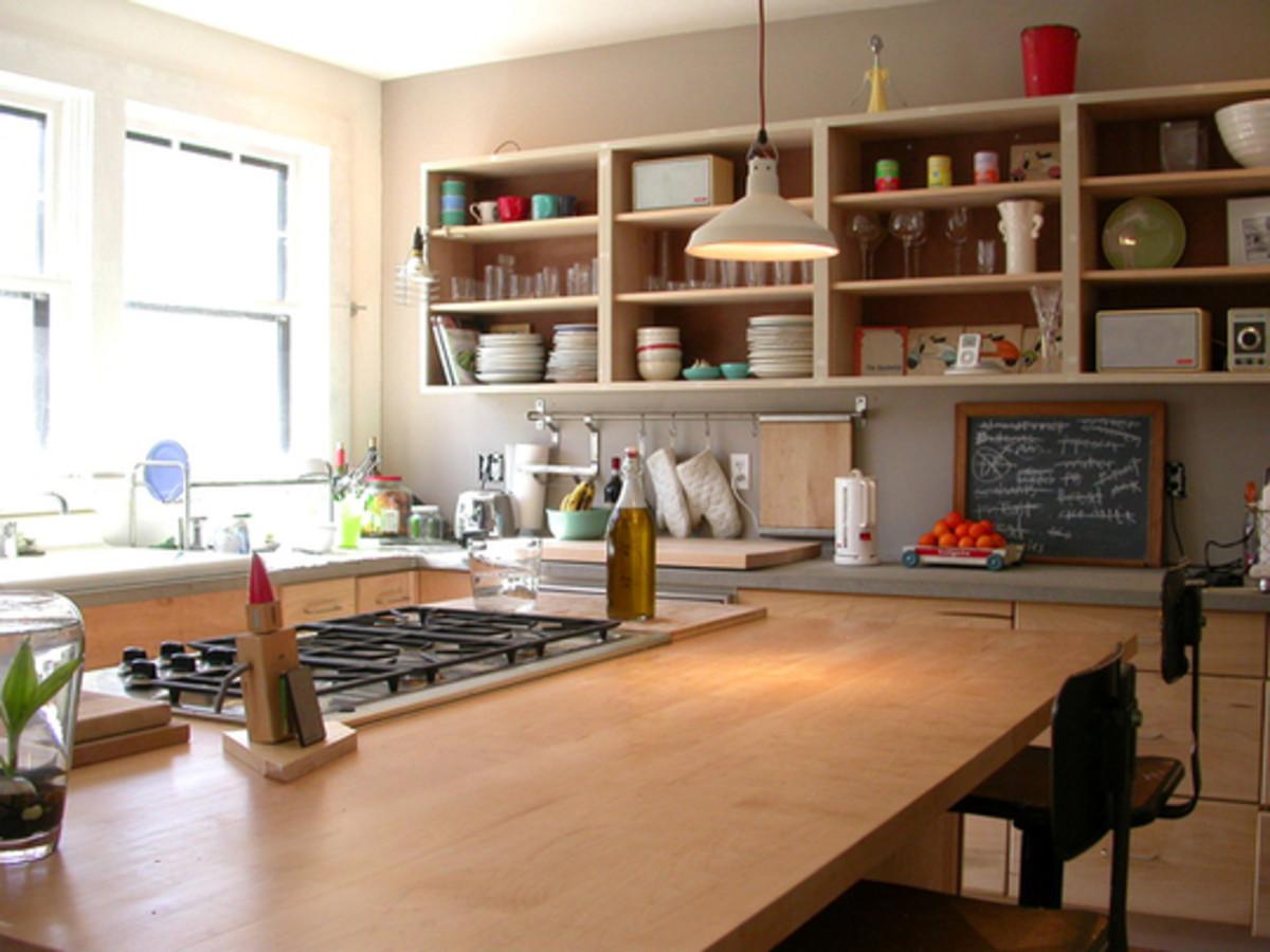 warm woody kitchen