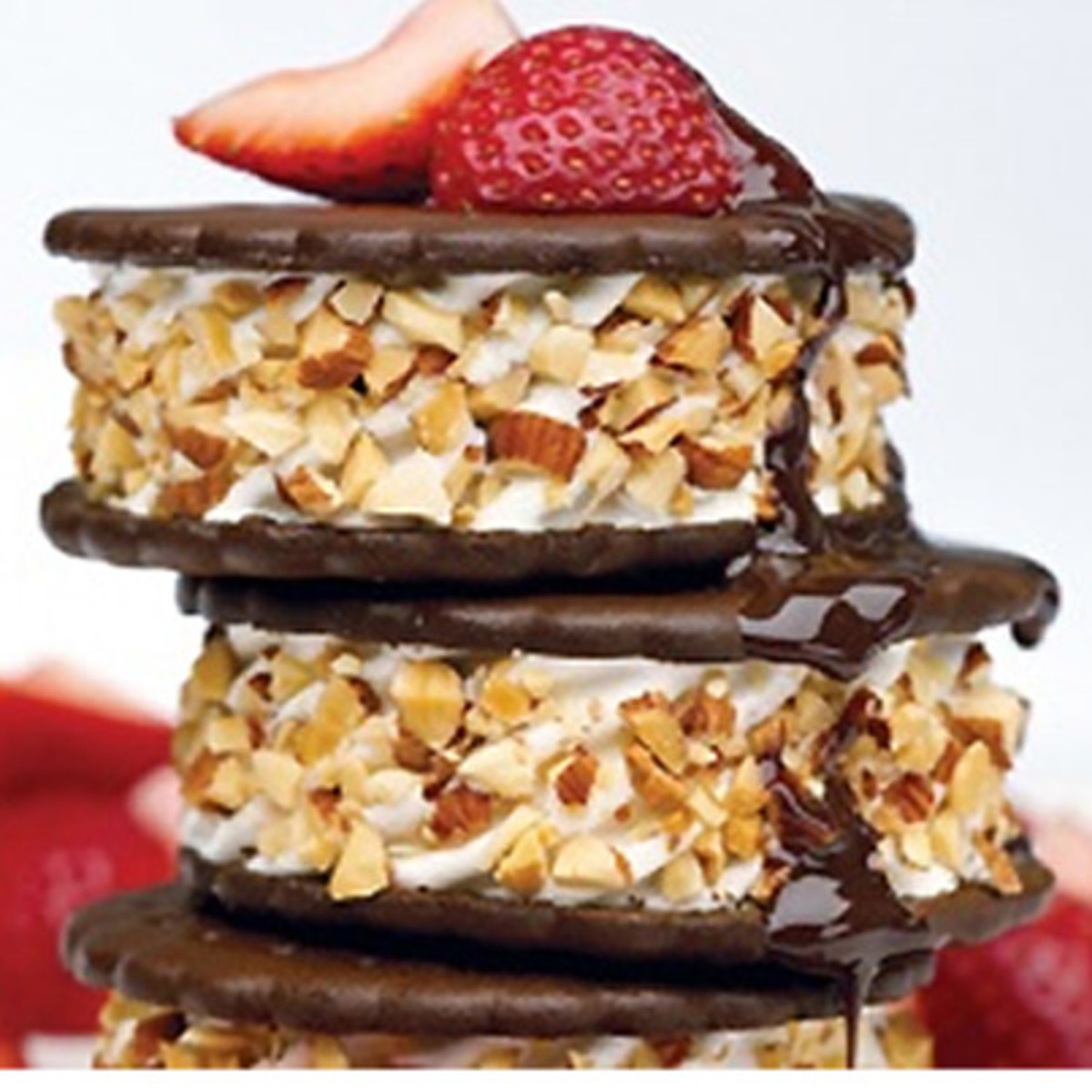 Stacked Ice Cream Sandwiches