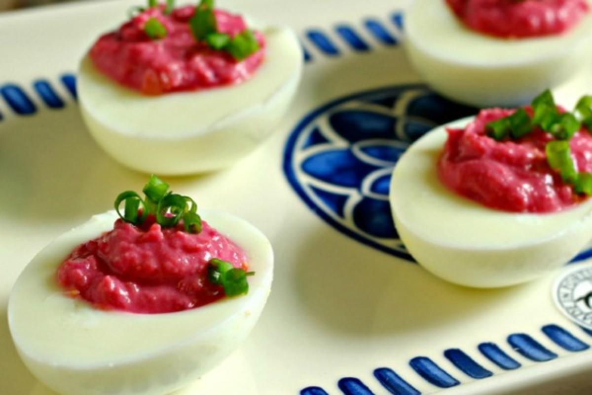 Horseradish Deviled Eggs