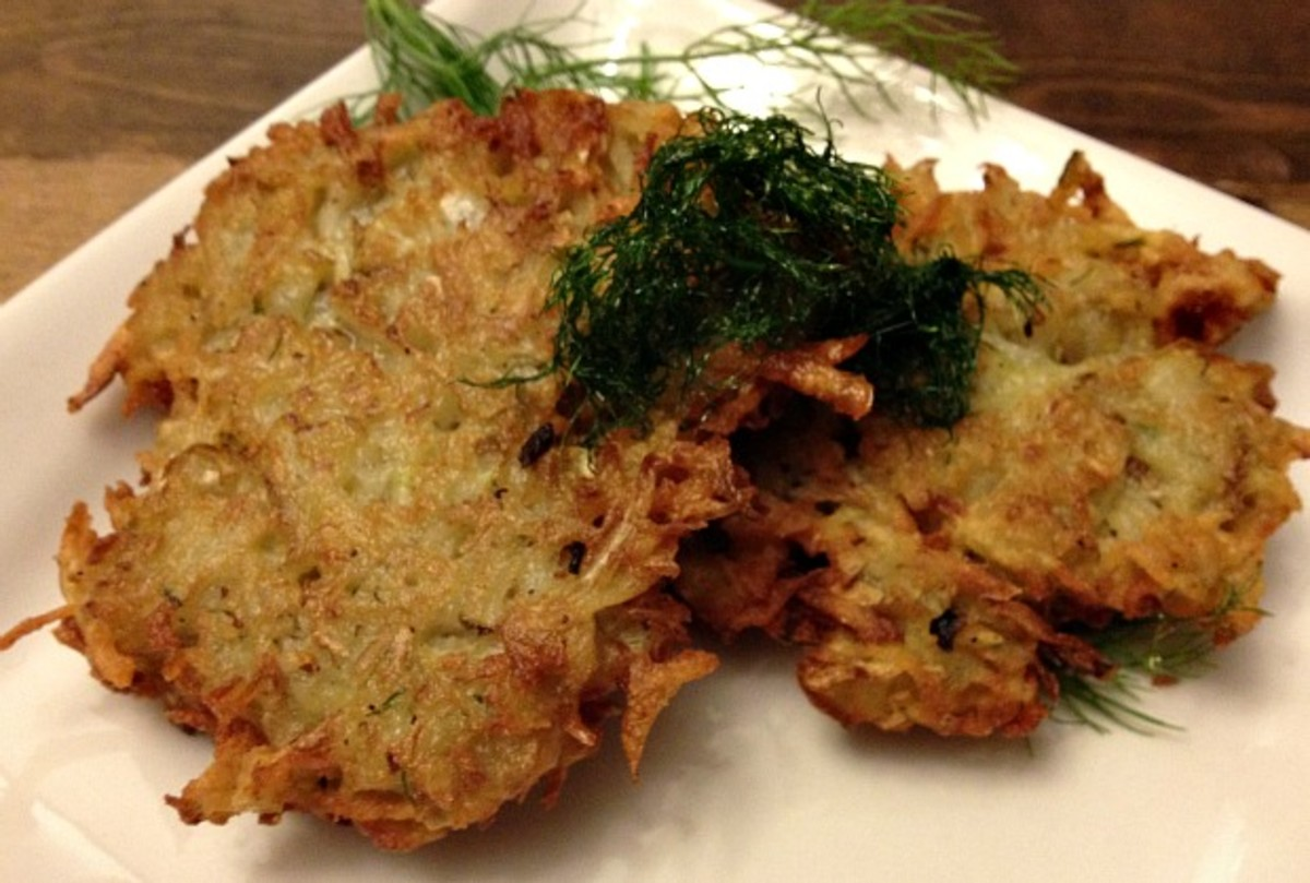 Fennel Potato Latkes