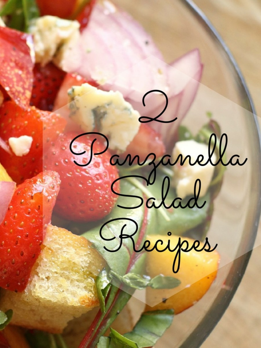 2 Panzanella Salad Recipes