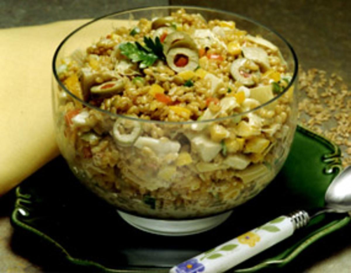 Artichoke Wheat Berry Salad