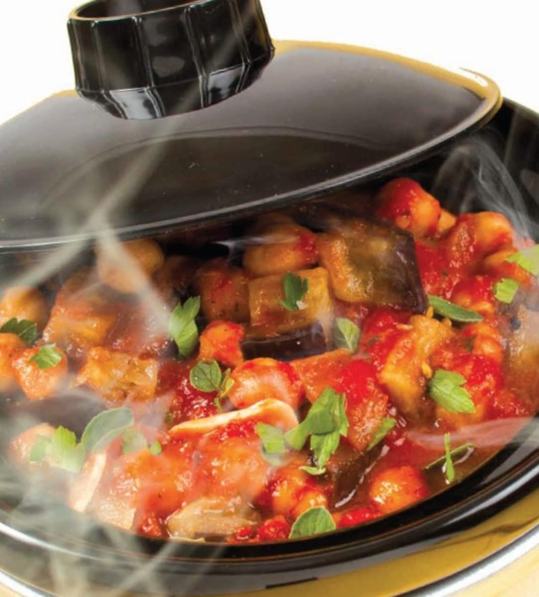 tuscan eggplan tomato chickpea stew