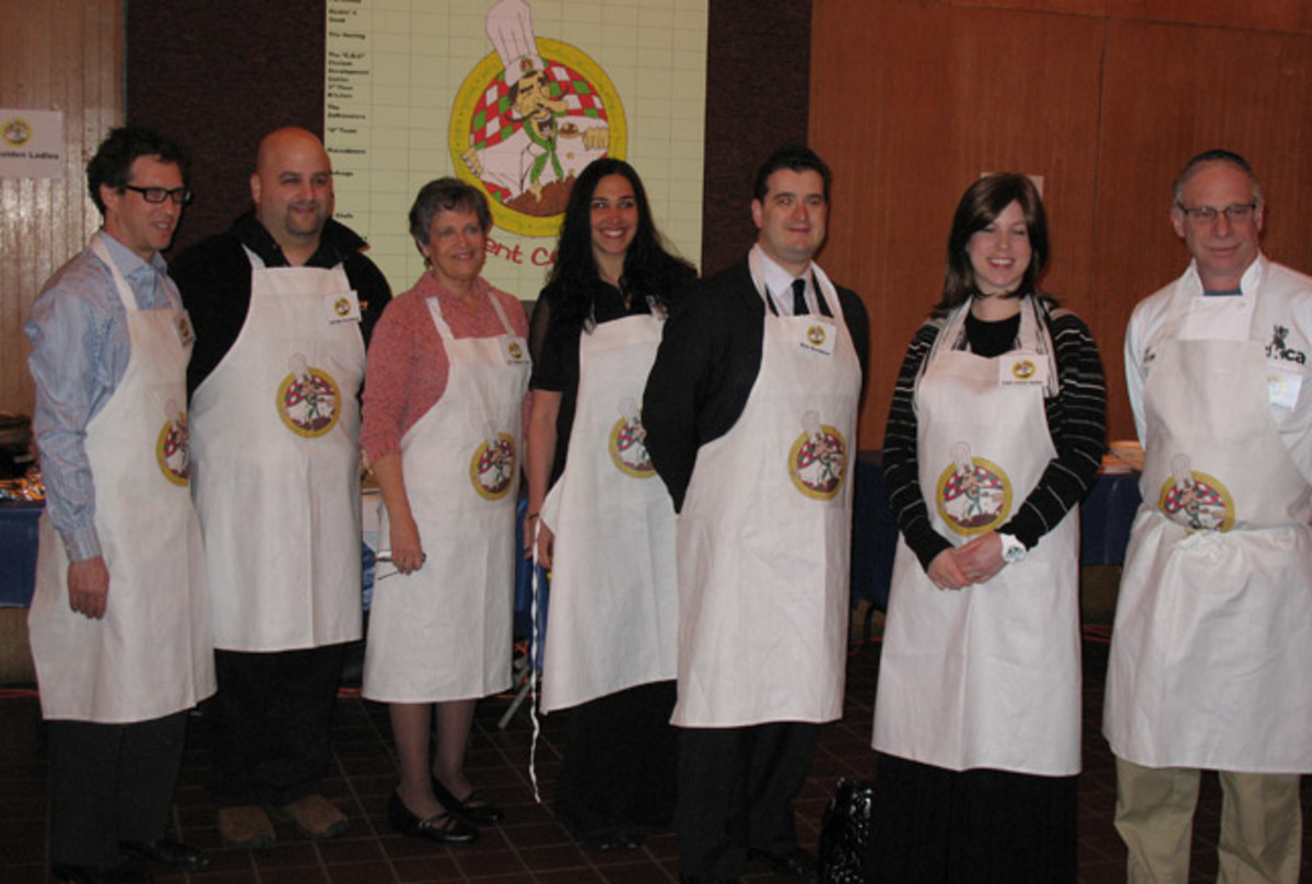 The judges at the YU Cholent Cook Off