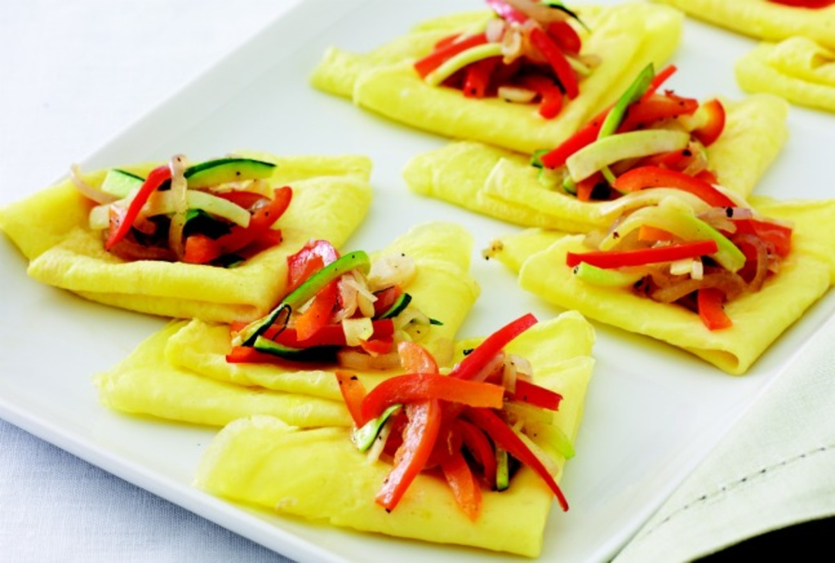 Vegetable Egg Crepes