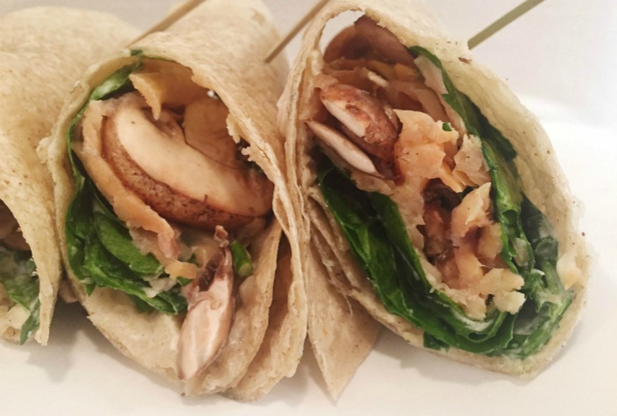 Cream Cheese and Smoked Salmon Wrap