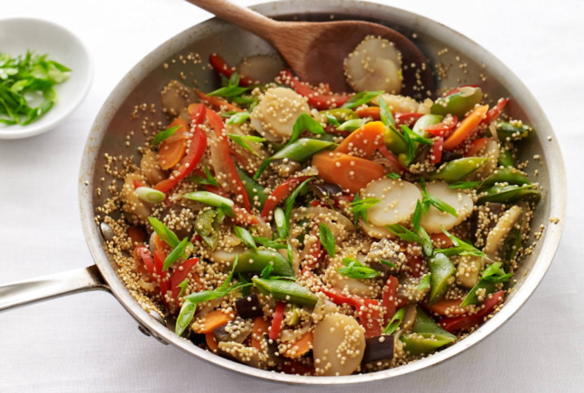 Asian Vegetables with Quinoa