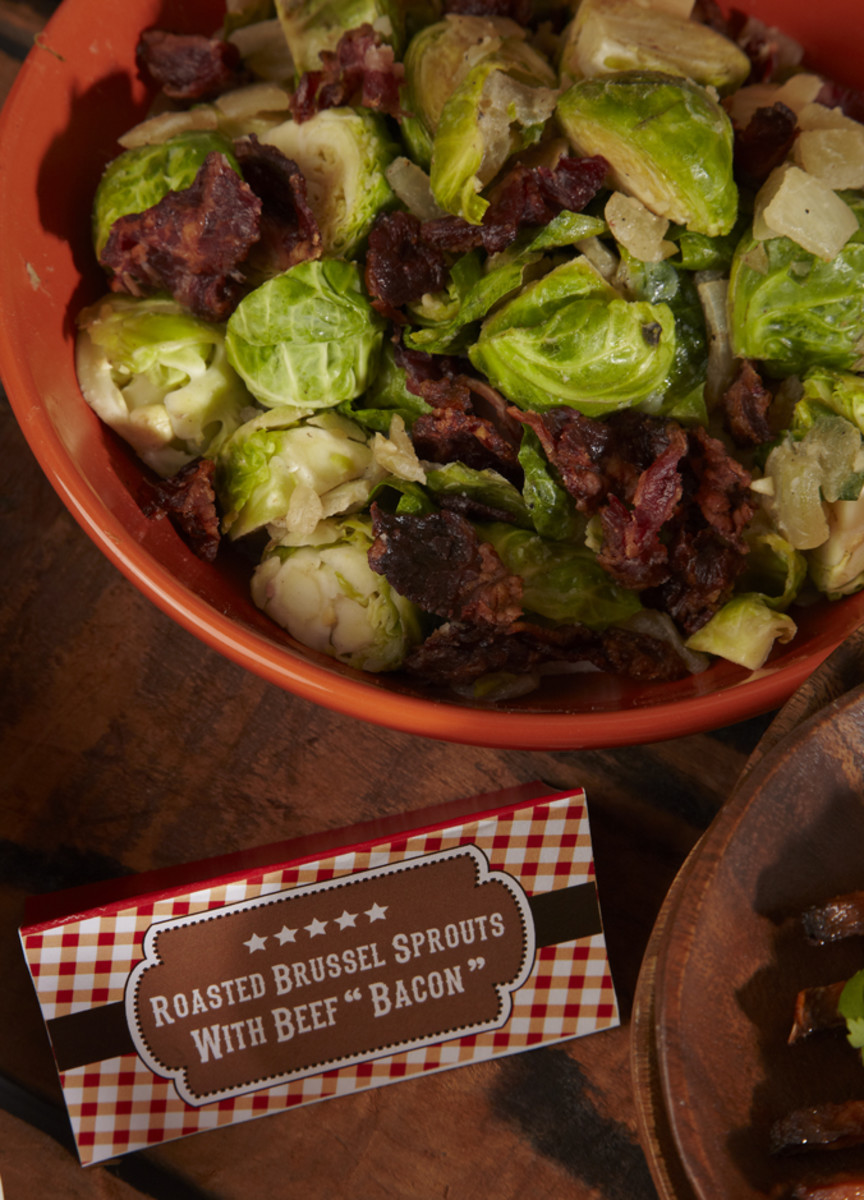 Brussels Sprouts with Beef Bacon
