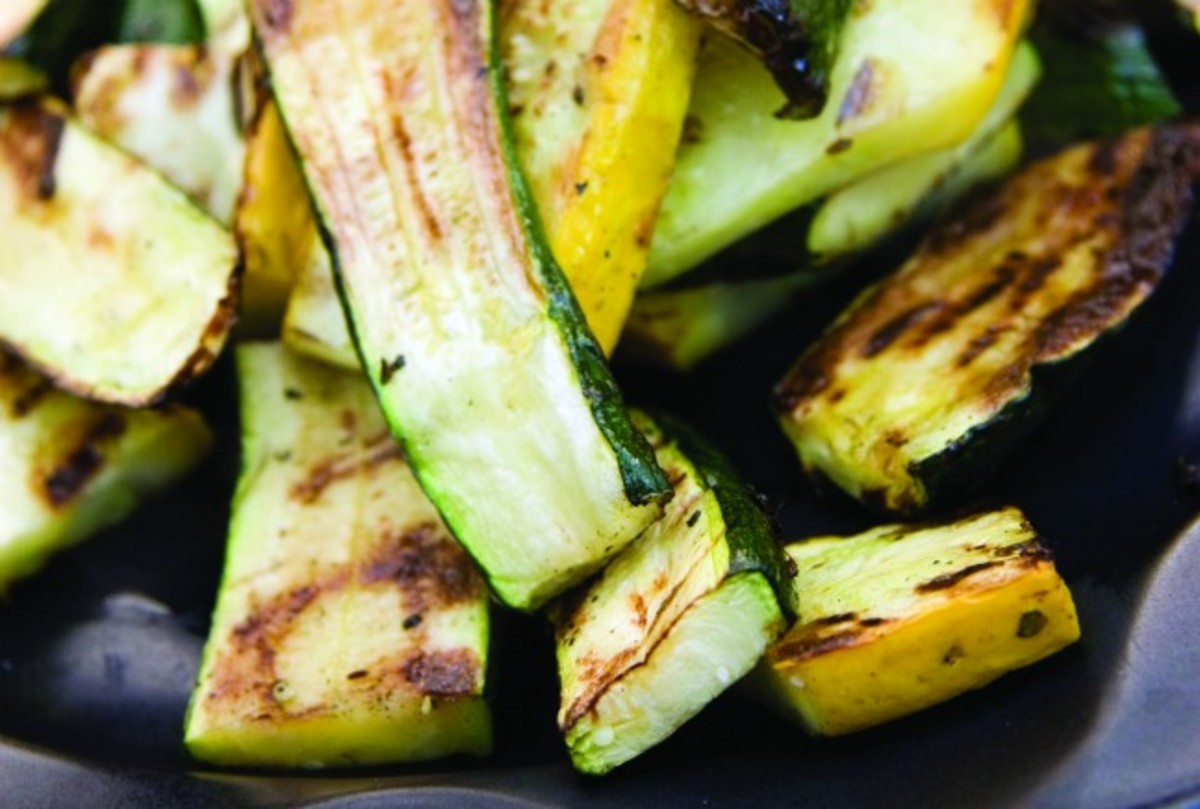 grilled zucchini with a zip