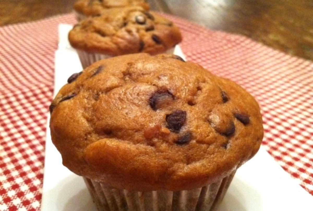 Peanut Butter Chocolate-Chip Muffins