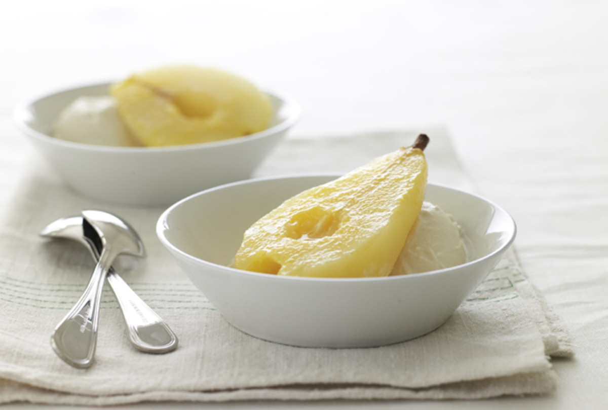 Orange Ginger Poached Pear
