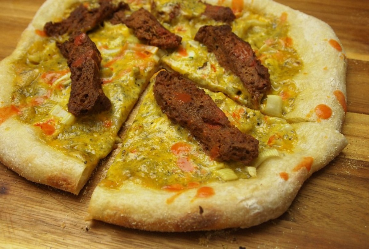 Buffalo Wing Kosher Pizza