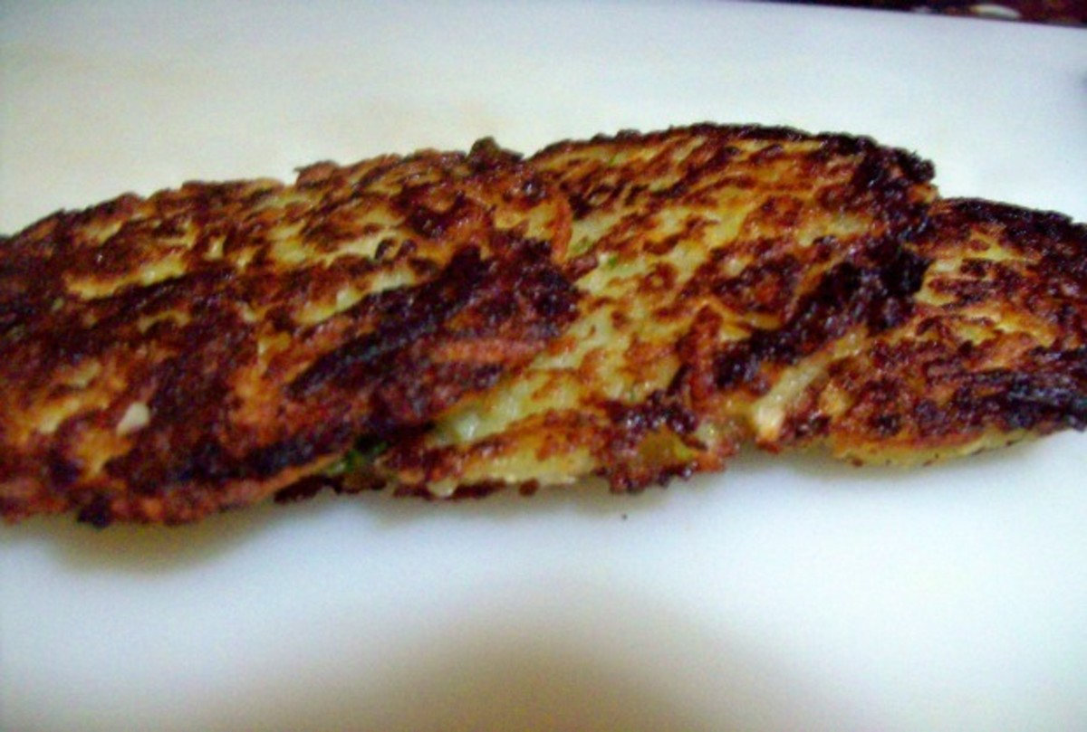 Latkes with a truffle twist