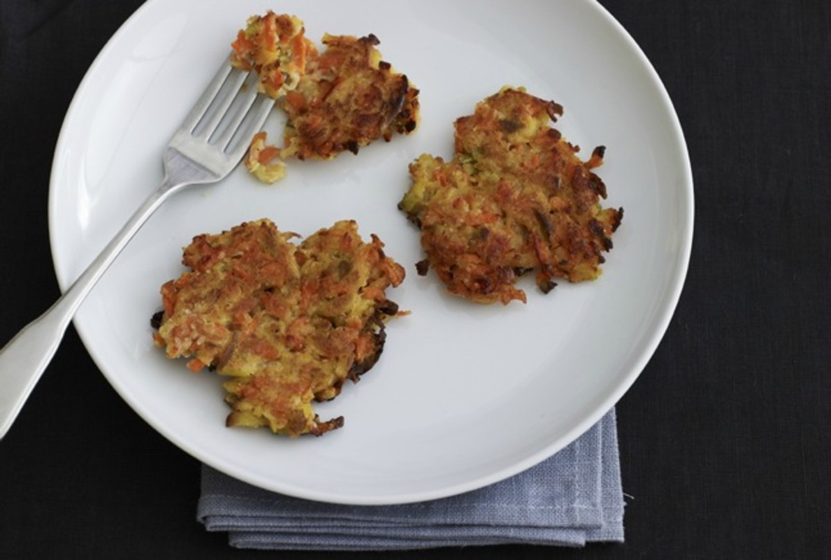 Cauliflower Carrot Latkes