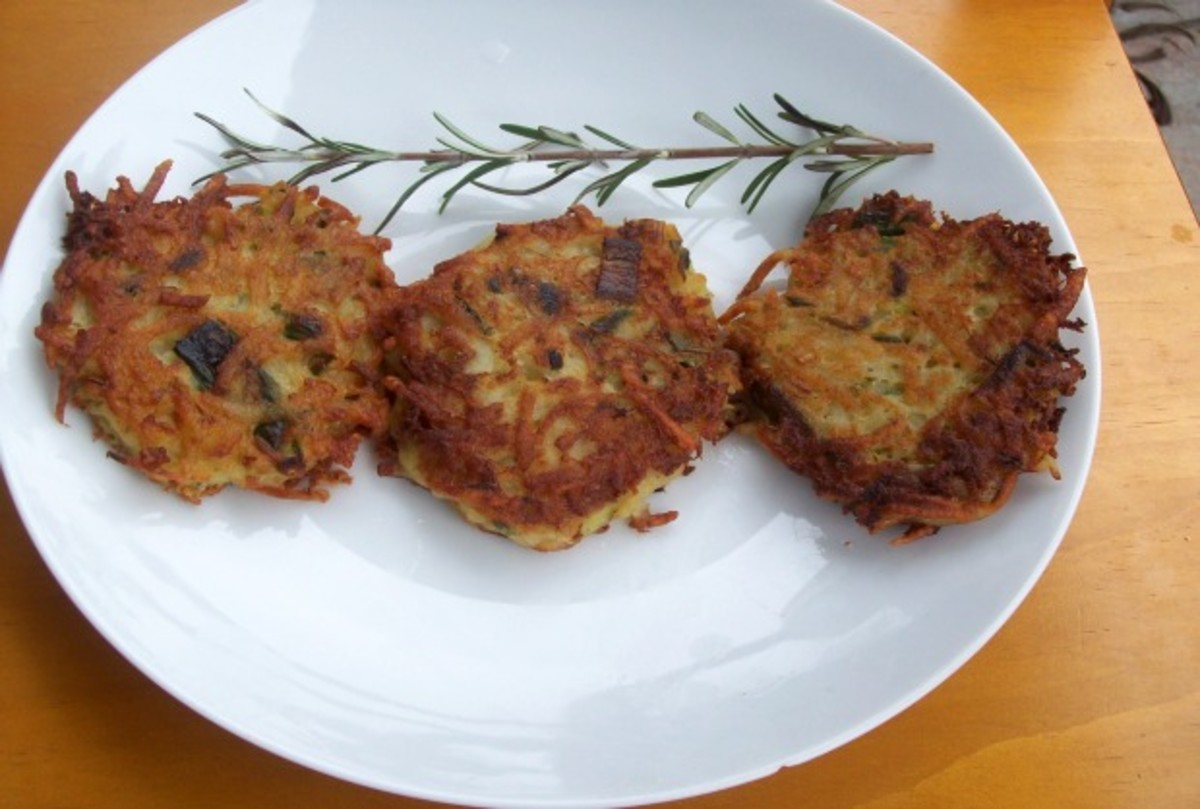 Rosemary-Mascarpone Potato Latkes