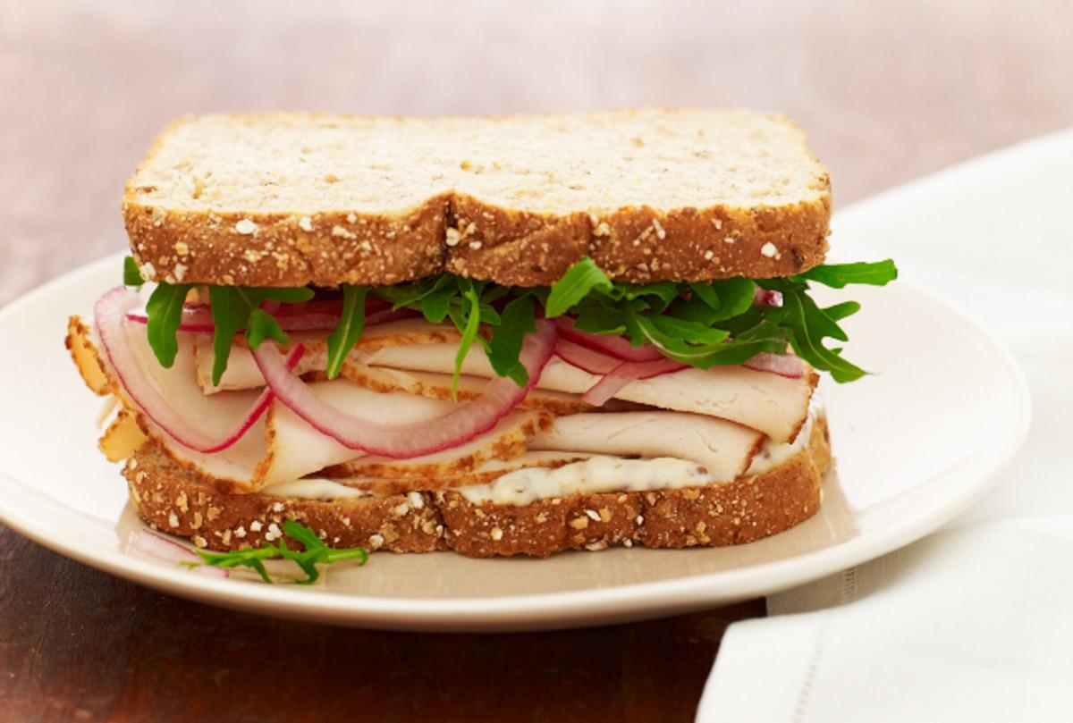 turkey sandwich with pickled red onions jamie geller