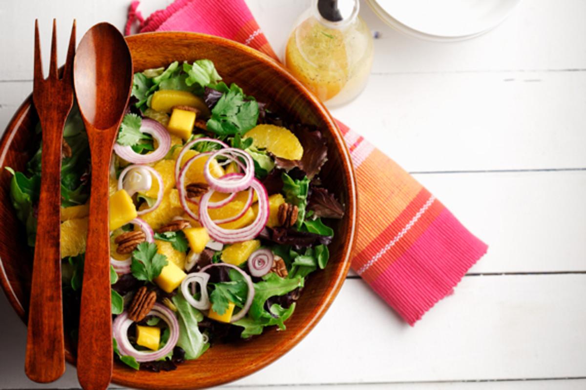 Mixed Greens, Mango and Pecan Salad