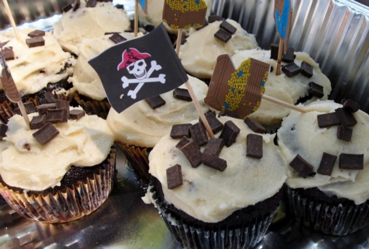 Cookie Dough Dark Chocolate Cupcakes