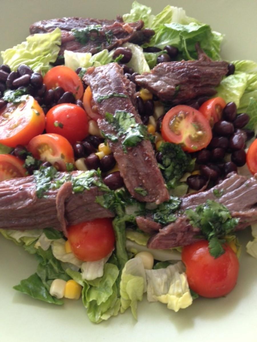 mexican skirt steak salad