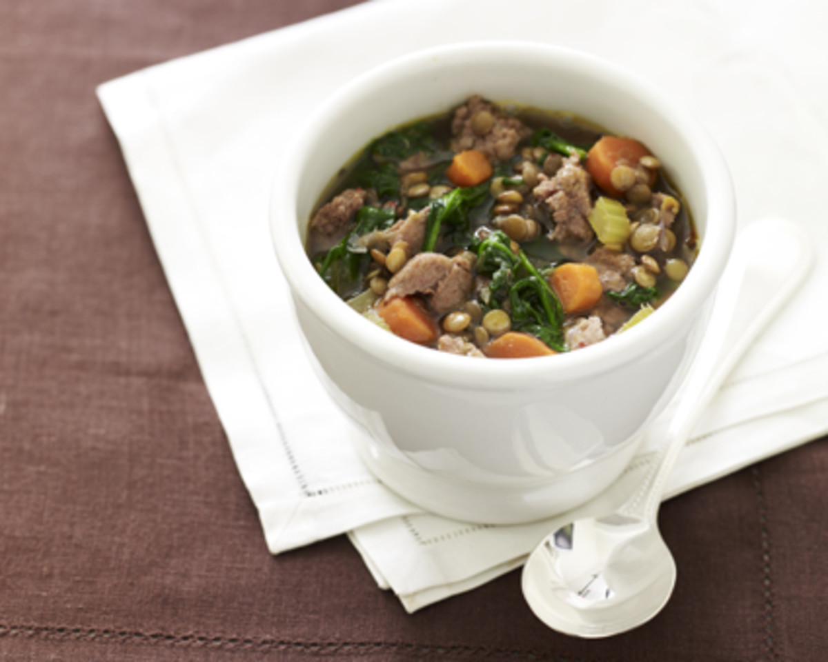 turkey sausage and lentil soup