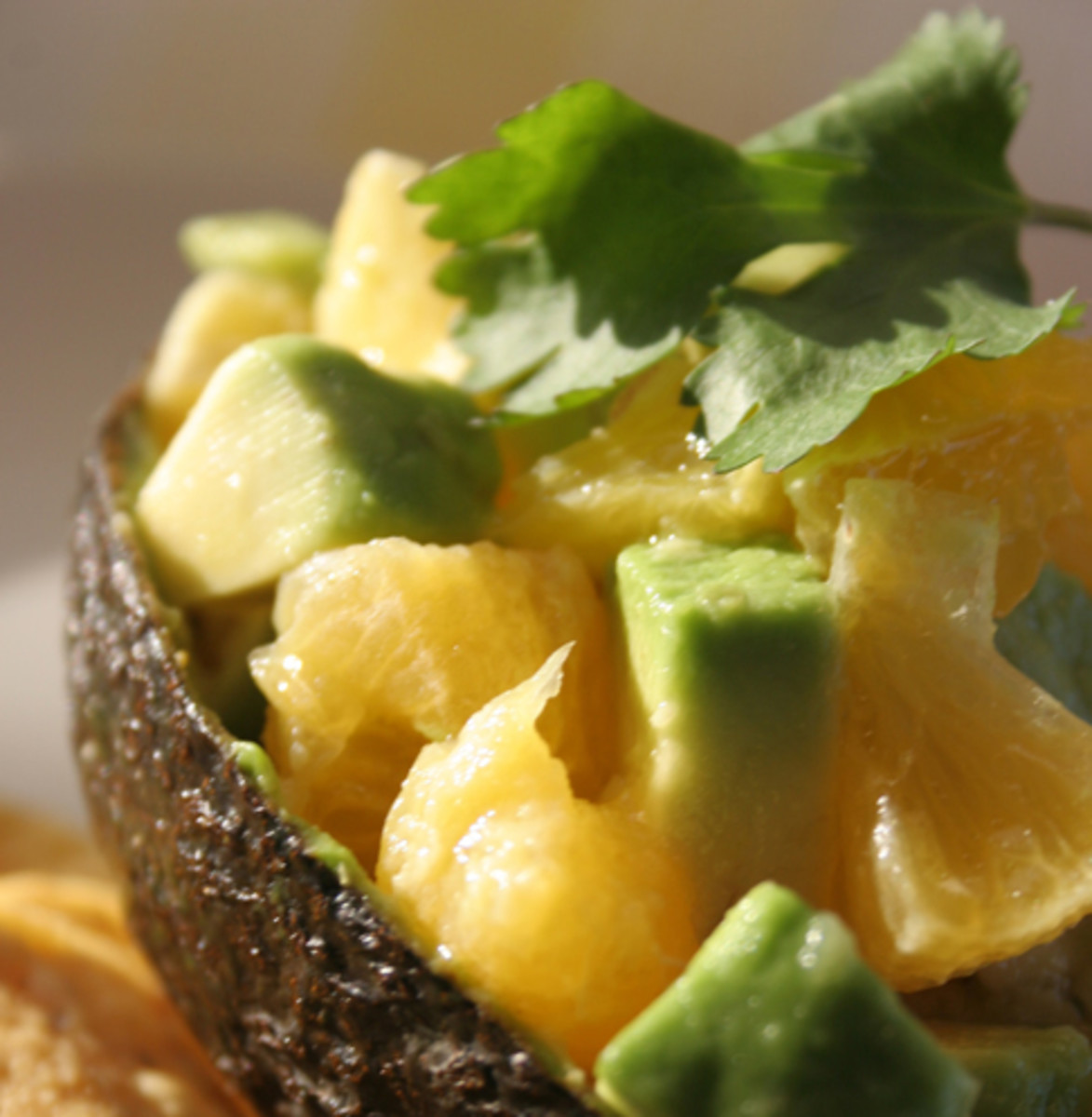 Exotic Mexican Avocado and Tangerine Salad