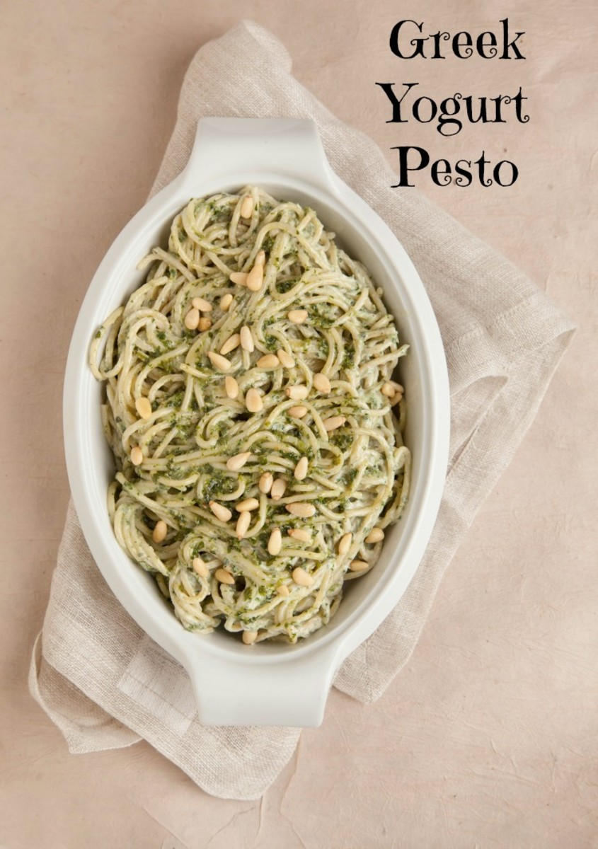 greek yogurt pesto pasta
