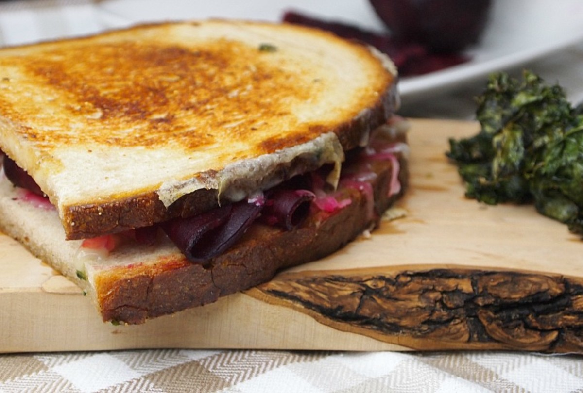 vegetarian low fat reuben sandwich