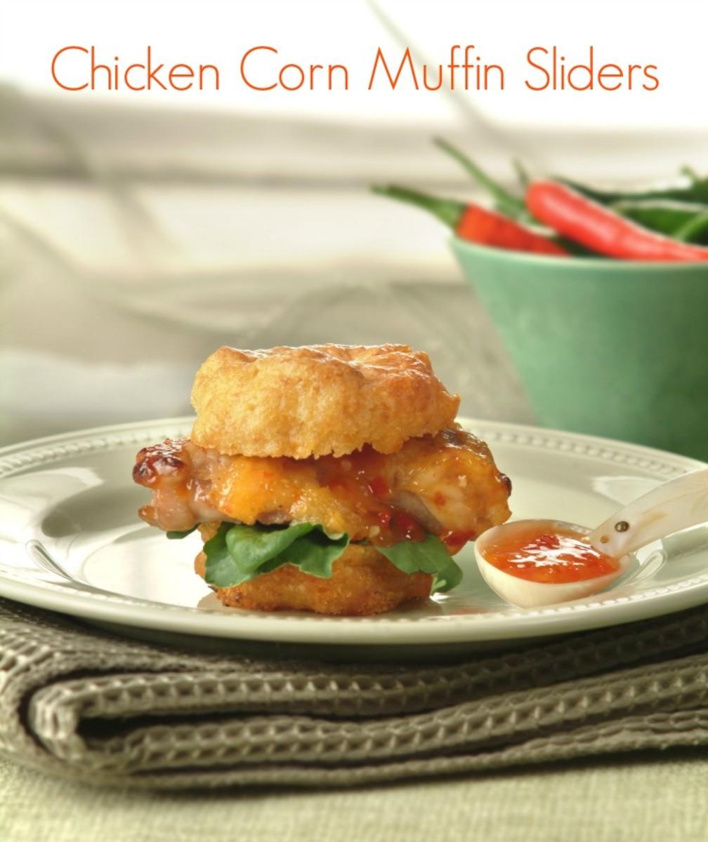 chicken corn muffin sliders