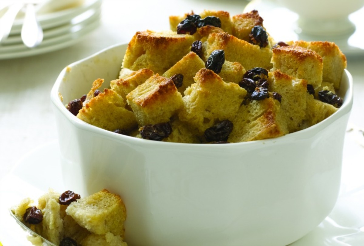 Rum Raisin Bread Pudding - soak day old bread cubes in a flavorful custard before baking up into this delicious breakfast, brunch or dessert