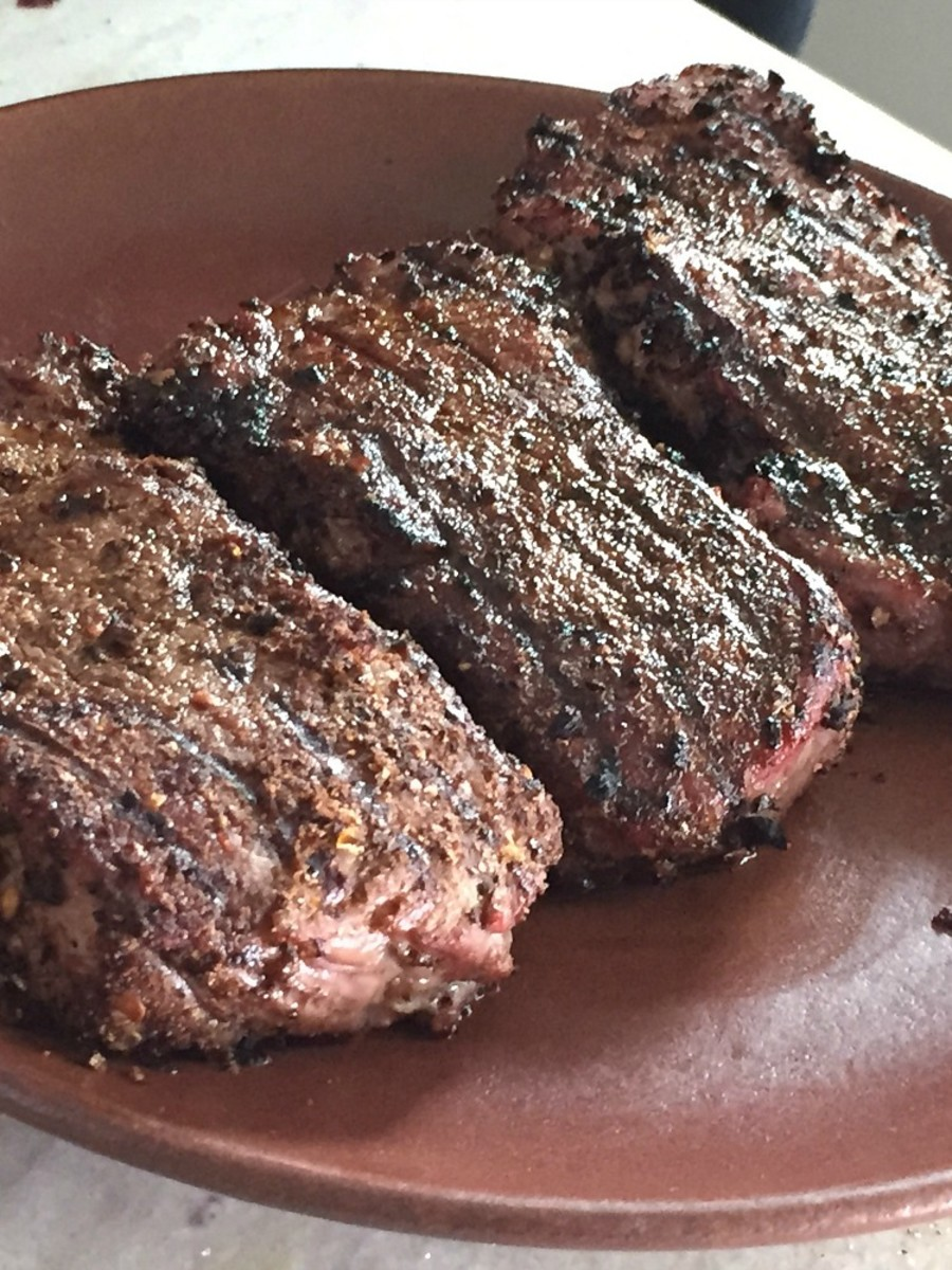perfectly grilled steaks