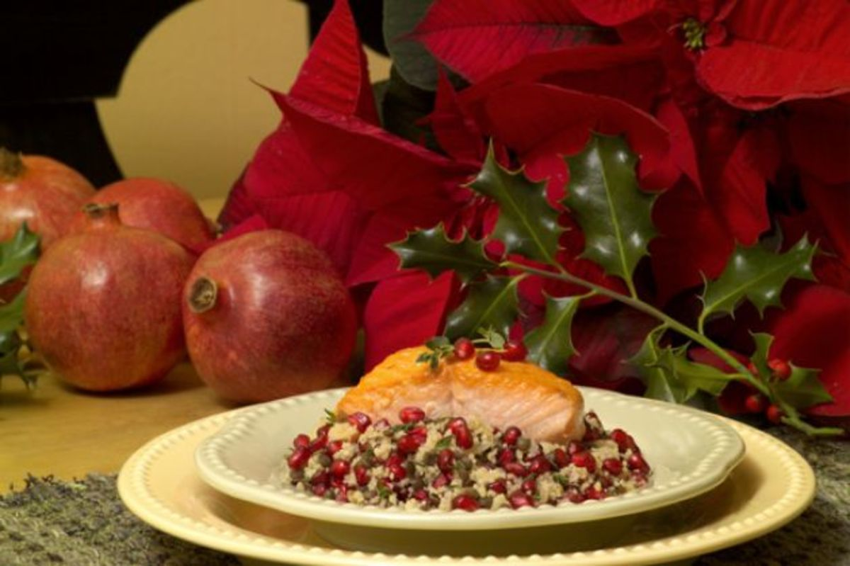 salmon with pomegranate