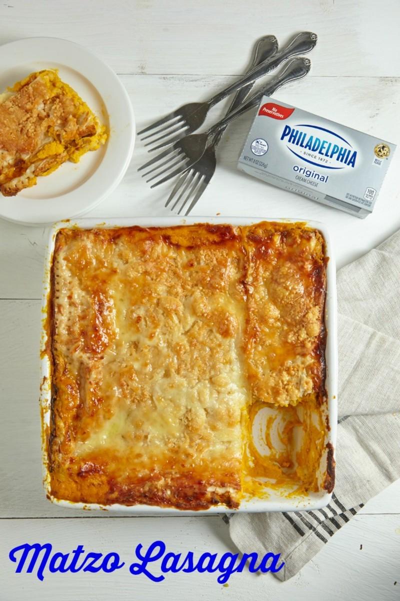 butternut squash matzo lasagna pin
