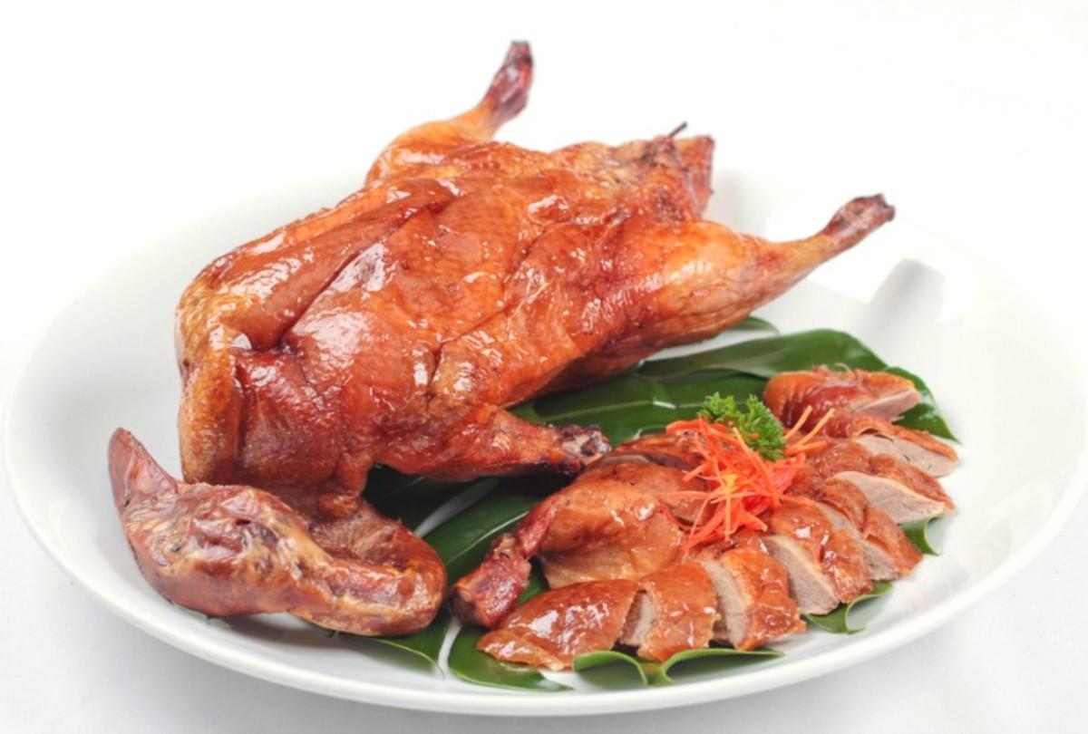 honey roasted duck