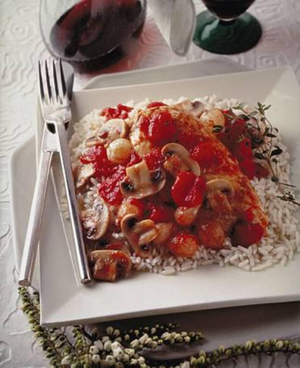 Chicken Marengo with Mushrooms